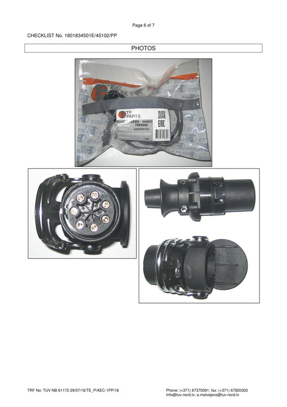 7994042 7-pin Kontaktdakša ABS/EBS