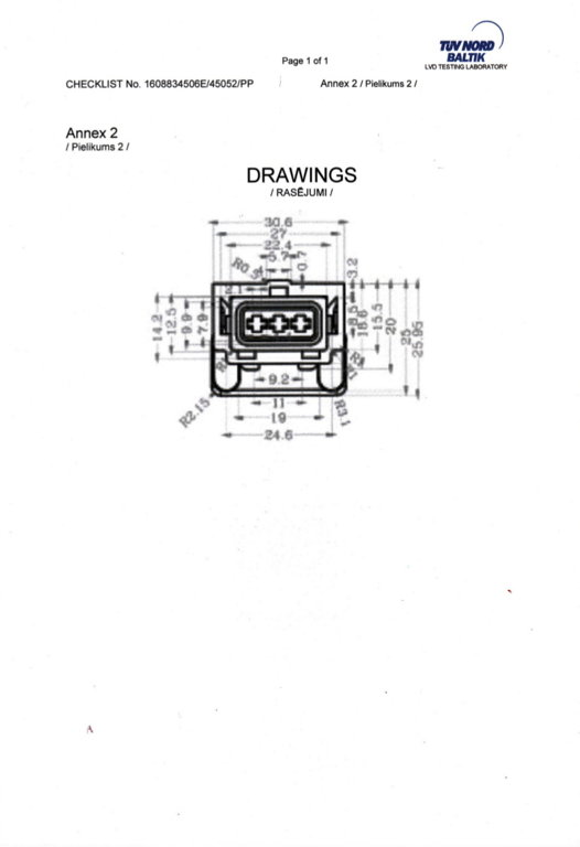 7810051 3-pin Konektors VOLVO / RVI