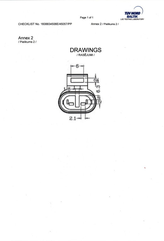 7810133 2-pin Plug for IVECO / RVI / VOLVO / SCANIA