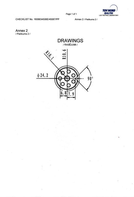 7810629 Разъем Байонет 8-pin для MERCEDES BENZ / MAN