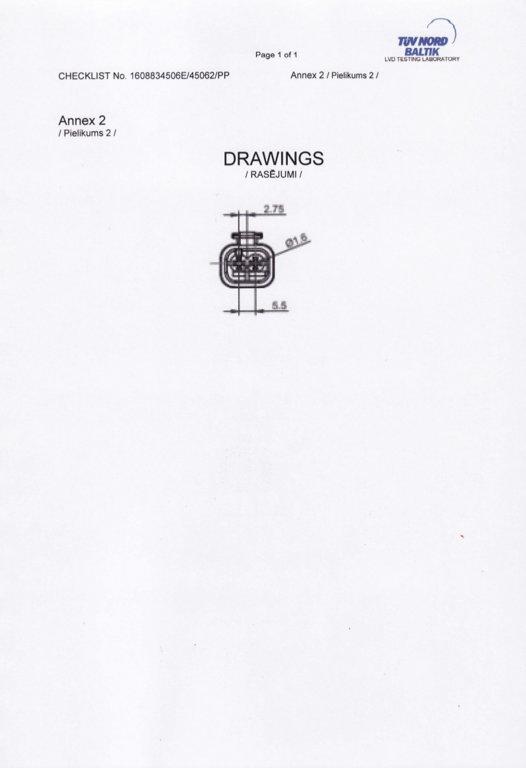 7811688 2-pin Universal Plug for MAN / DAF